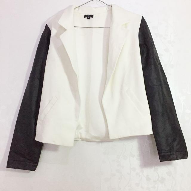 Leather blazer jacket