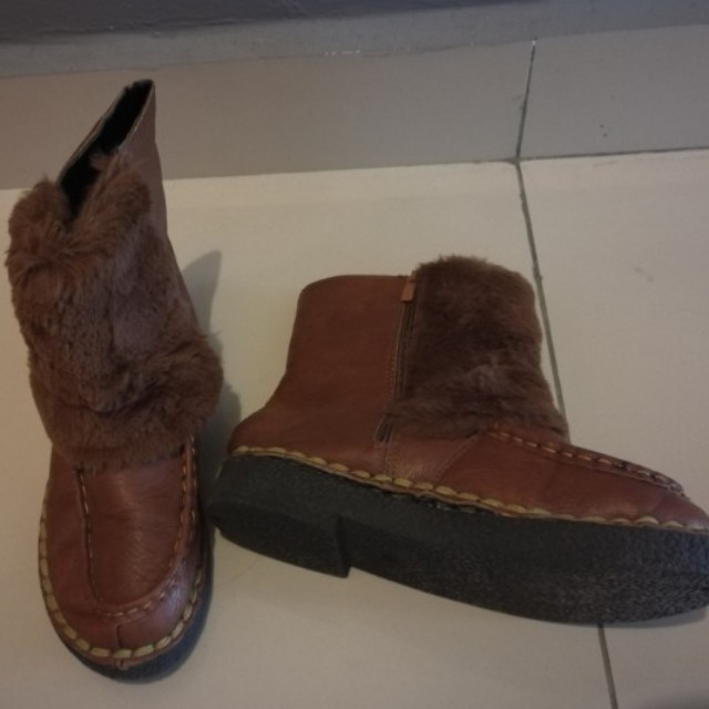 Leather Brown Winter Boots #15off