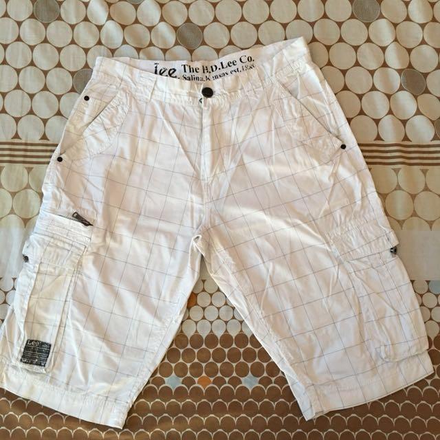 Lee White Cargo Shorts
