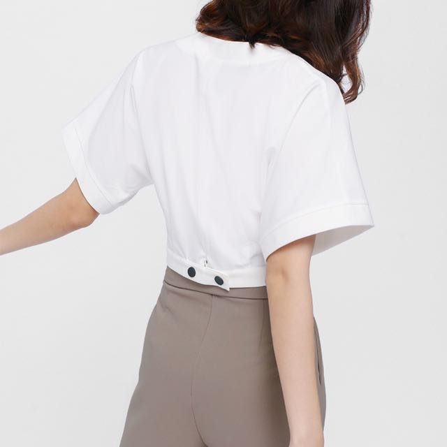 9ee8ab225b Loyle crossover crop top, Women's Fashion, Clothes, Tops on Carousell