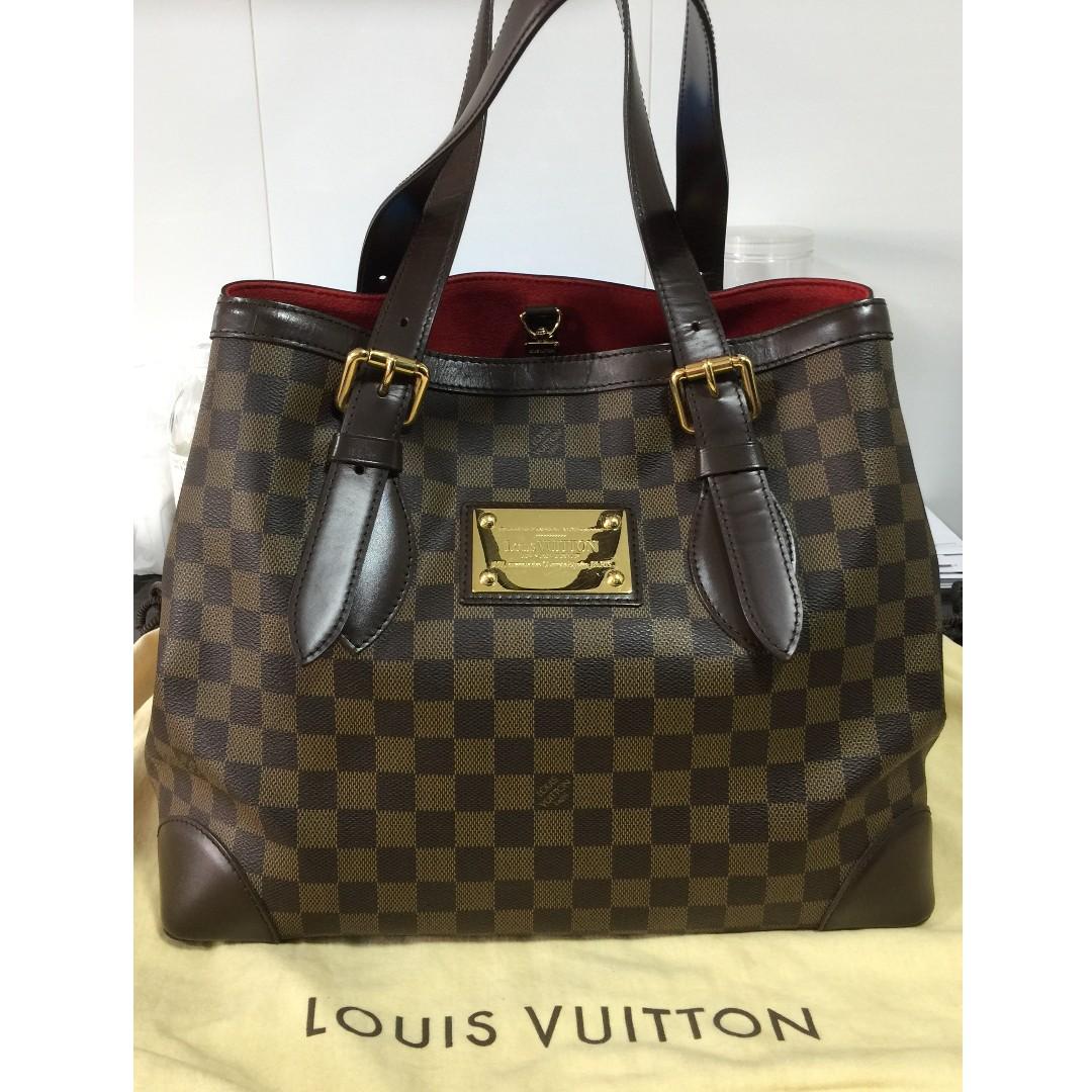 LV Louis Vuitton Damier Ebene Hampstead MM Bag da99c95bf798