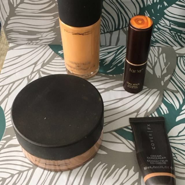 MAC powder and foundation, tarte foundation and CoverFX concealer lot