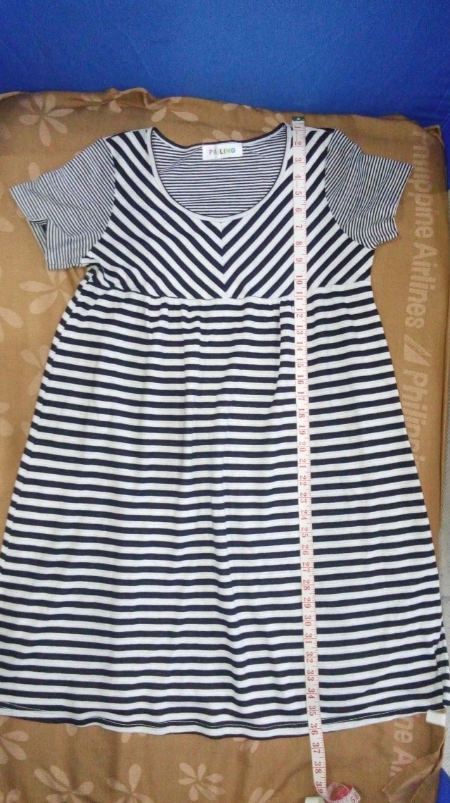 Maternity stripes dress