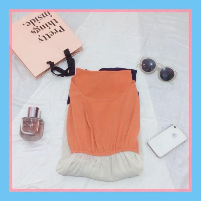 Mini dress 3 tone