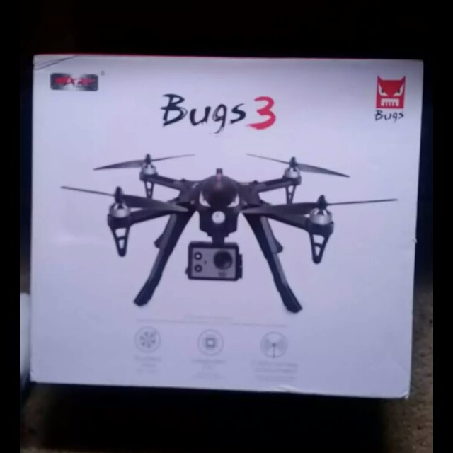 New! bugs 3 drone with camera & extra battery