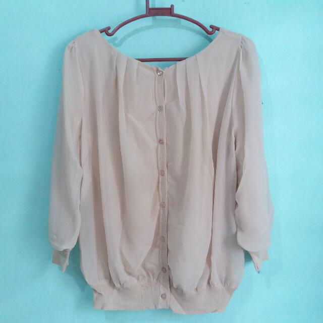 Nude Casual Blouse