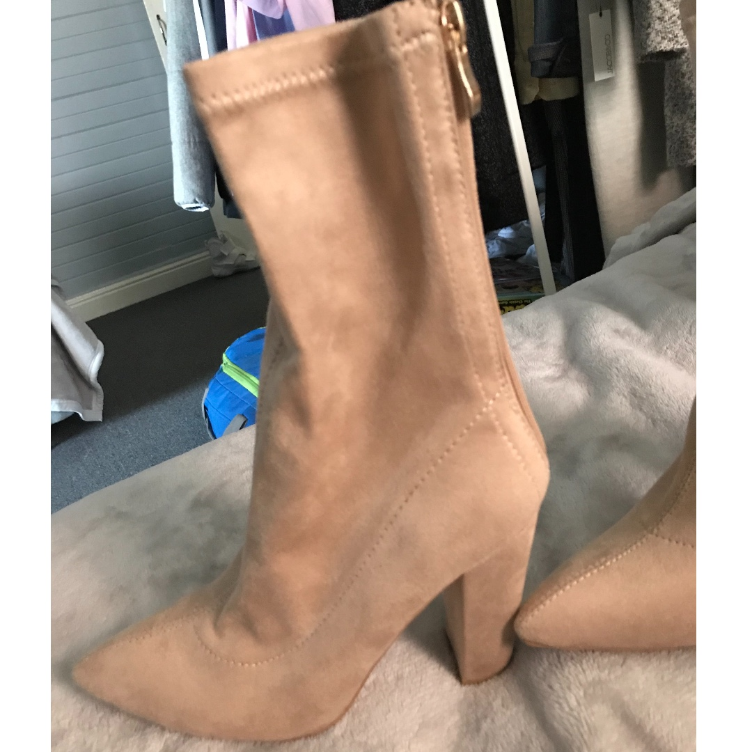 Nude Sweide Boots