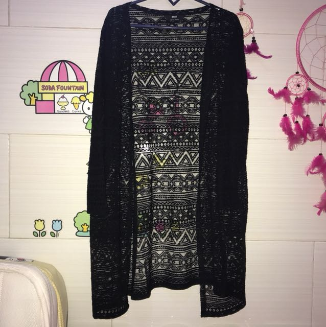 OUTER CARDIGAN HITAM