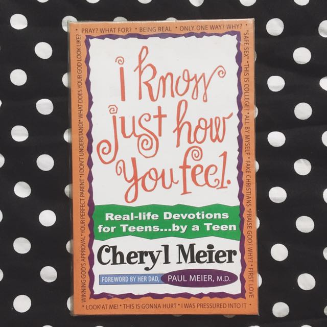 PAPERBACK: I Know Just How You Feel by Cheryl Meier