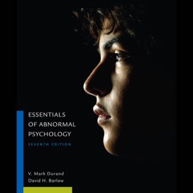 Pdf Essentials Of Abnormal Psychology 7th Edit By Durand
