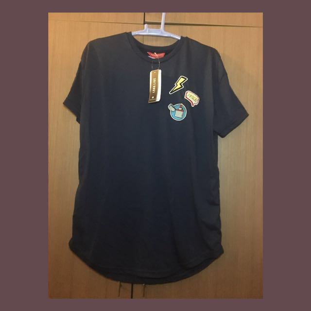 PENSHOPPE Long line Tee with Patches