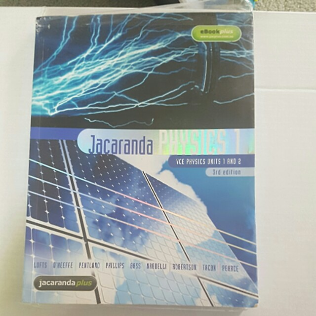 Physics jacaranda units 1 and 2 VCE