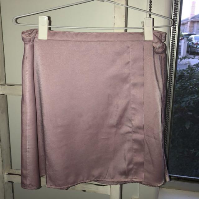 Pink Motel Wrap Around Skirt