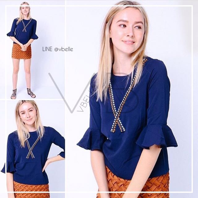 Pippy trumpet sleeve top
