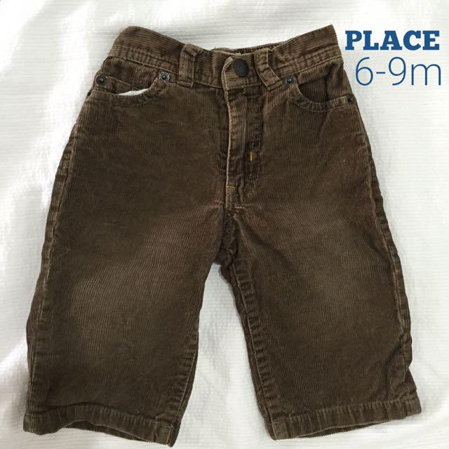 Place corduroy pants