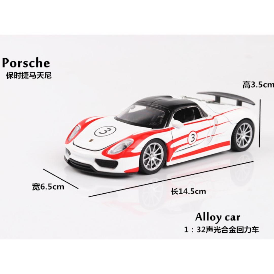 Porsche 保時捷 馬天尼 聲光 迴力 3色隨機發 1:32 預購 阿米格Amigo