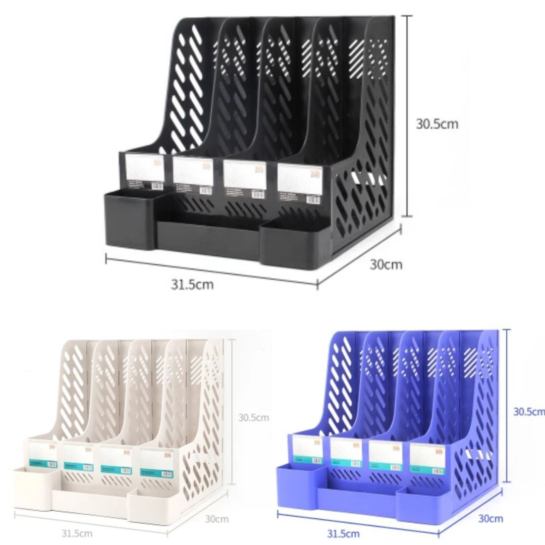 Pre Order Desktop File Rack Holder Paper Organizer Box Books Stationery On Carou
