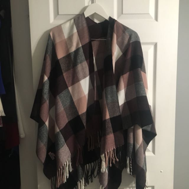 Purple plaid shawl/scarf