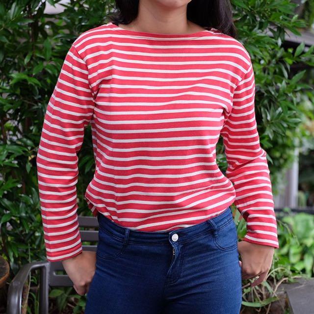 Red & White Stripe Sweater