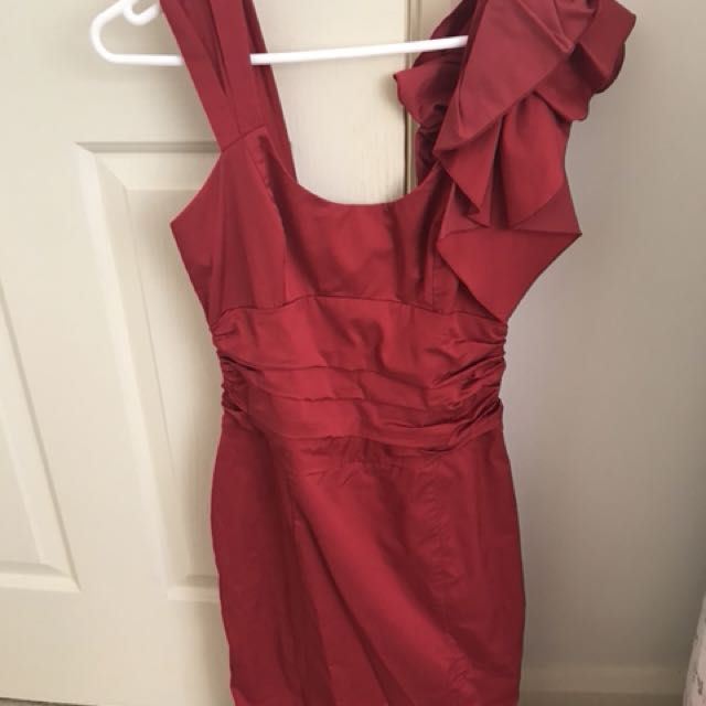 Red Cue dress