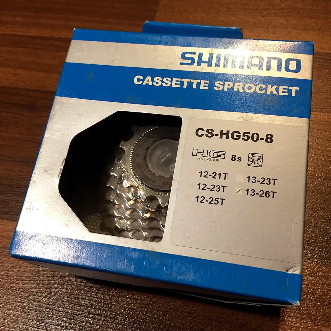 SHIMANO Sora Road Bike CS-HG50-8 8 speed 11-30t Cassette// Sprocket