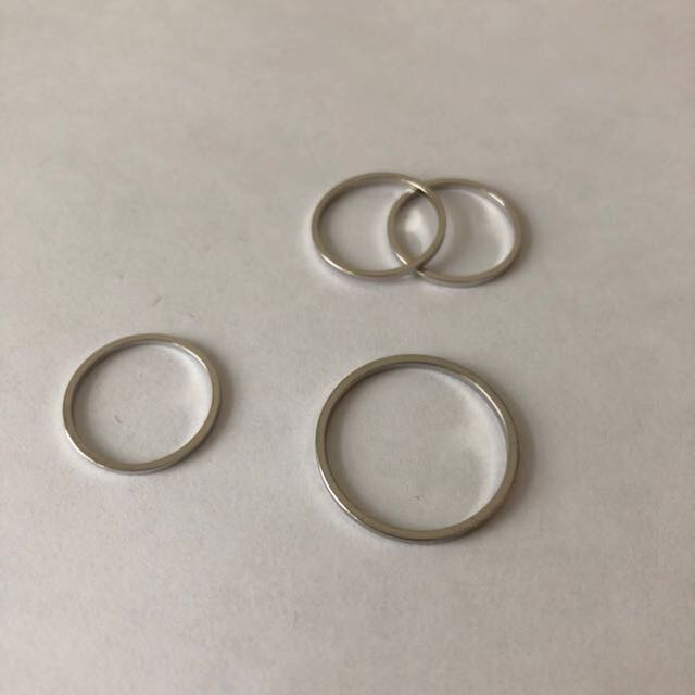 Simple Silver Ring Set (pick up only)