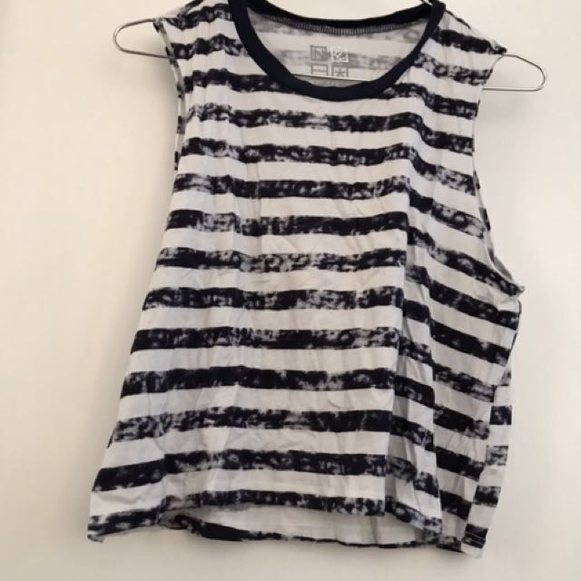 Size Small Cropped Pacsun Striped Tank