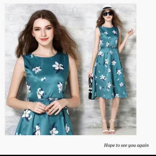 Sleeveless Floral A-line Dress ( last 1pc )