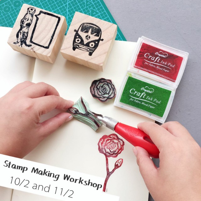 Stamp making workshop (Valentine's day)