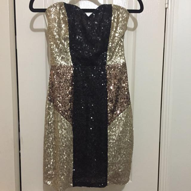 Strapless Sequin bodycon dress