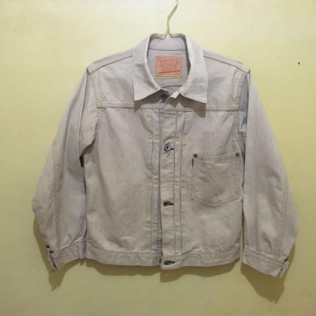 Sugar cane type 1 lined trucker jacket