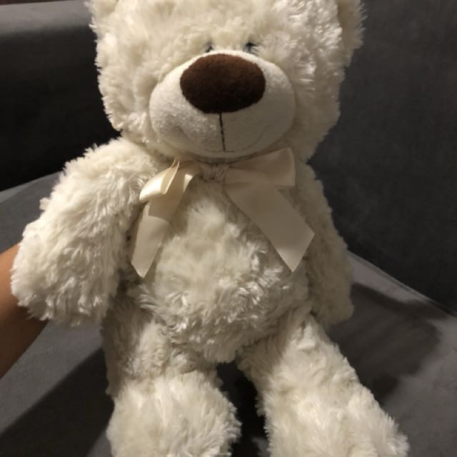 Teddy Bear White Doll