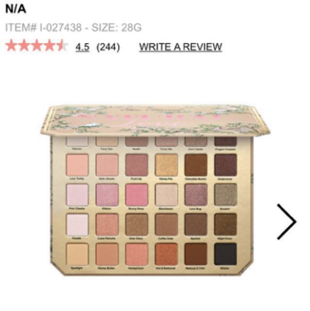 Too faced limited edition Natural love pallete