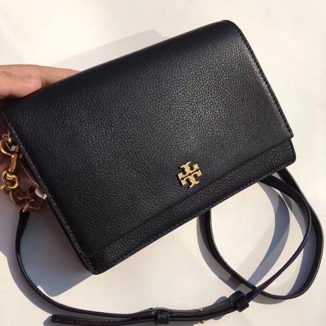 a0bbaa07e71 Tory Burch Georgia Pebble Leather Crossbody Bag
