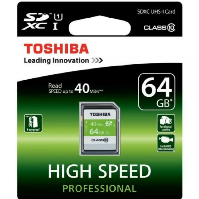 TOSHIBA 64GB SD