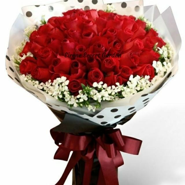 Valentine bouquet/fresh flower bouquet/birthday bouquet/anniversary ...