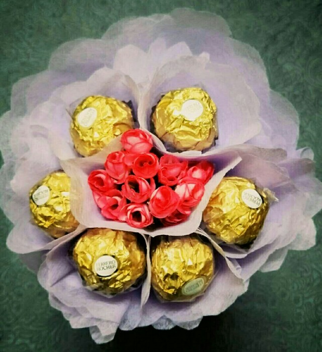 Valentine/Birthday Ferrero Chocolate Bouquets
