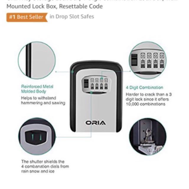 Varanda Waterproof and Anti rust Key Storage Lock Box, 4