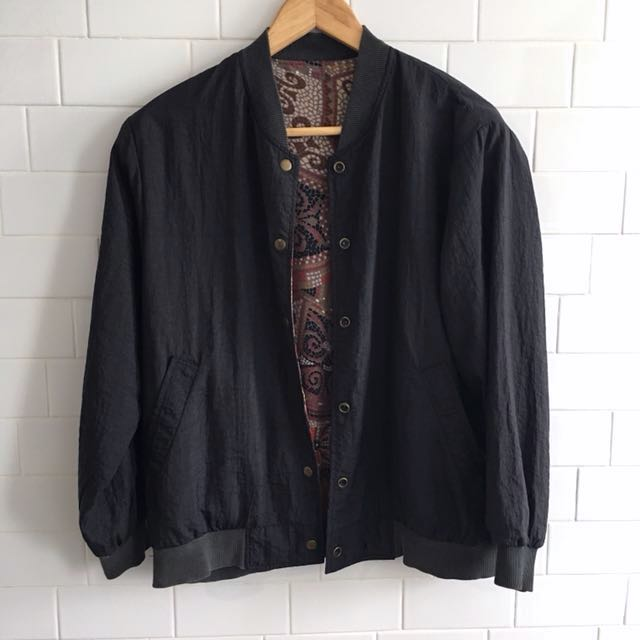 Vintage Ukay Reversible Bomber Jacket