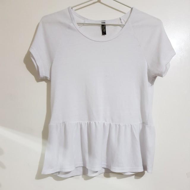 White peplum tee shirt