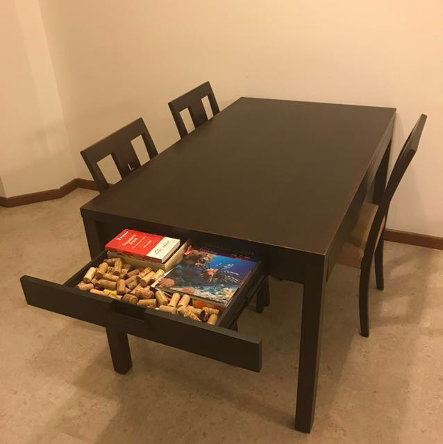 Wood Table Free Chairs Pick Up Tiong Bahru Furniture Tables
