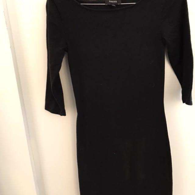 XXS Black Aritzia Babaton Skin Tight Dress
