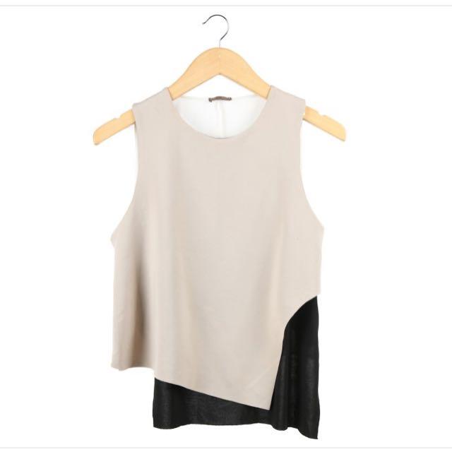 Zara Sleeveless Color Block Top