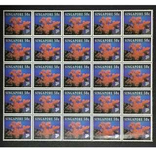 Singapore 1994 20 cents 25v 14 folded lines MnH