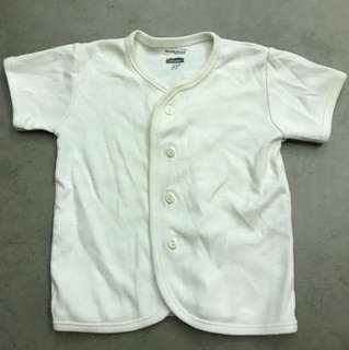 Off white button down cotton tshirt