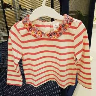 [GENUINE] Baby GAP Wov Collar Top Pink