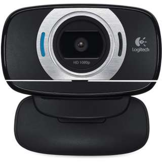 BRANDNEW Logitech HD Laptop Webcam C615 with Fold-and-Go Design, 360-Degree Swivel, 1080p Camera