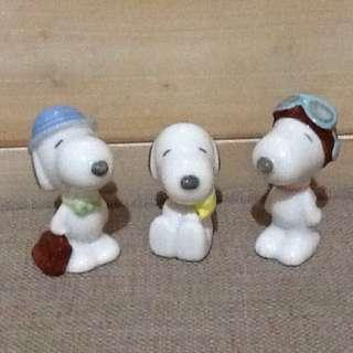 Snoopy * 陶瓷擺飾 * 三個一組