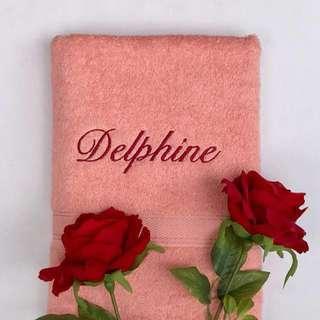 Personalized / Customized peach bath towel