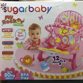 NEW Sugar Baby Bouncer up to 20kgs with 3 functions
